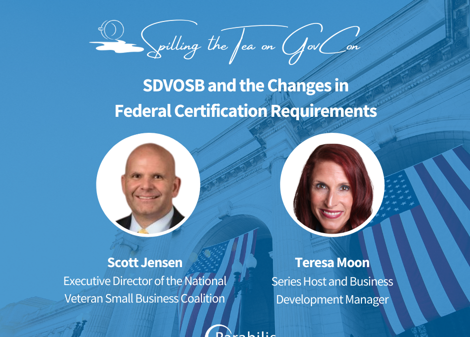 SDVOSB and the Changes in Federal Certification Requirements